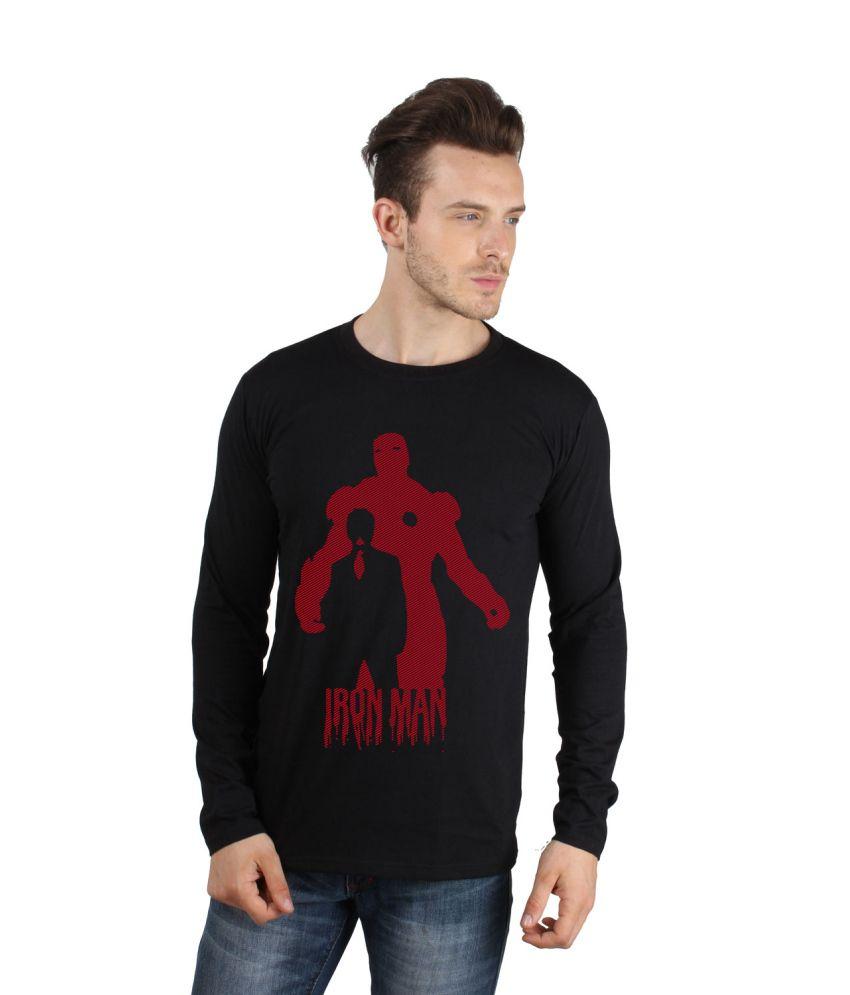 Sayitloud Black Cotton Printed T Shirt For Men