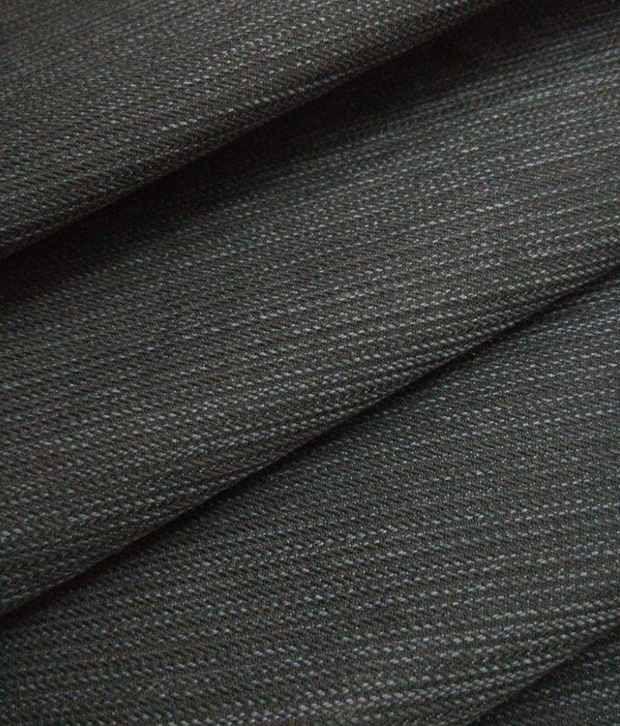 Raymond`s 100% Cotton Black Designer Trouser Fabric