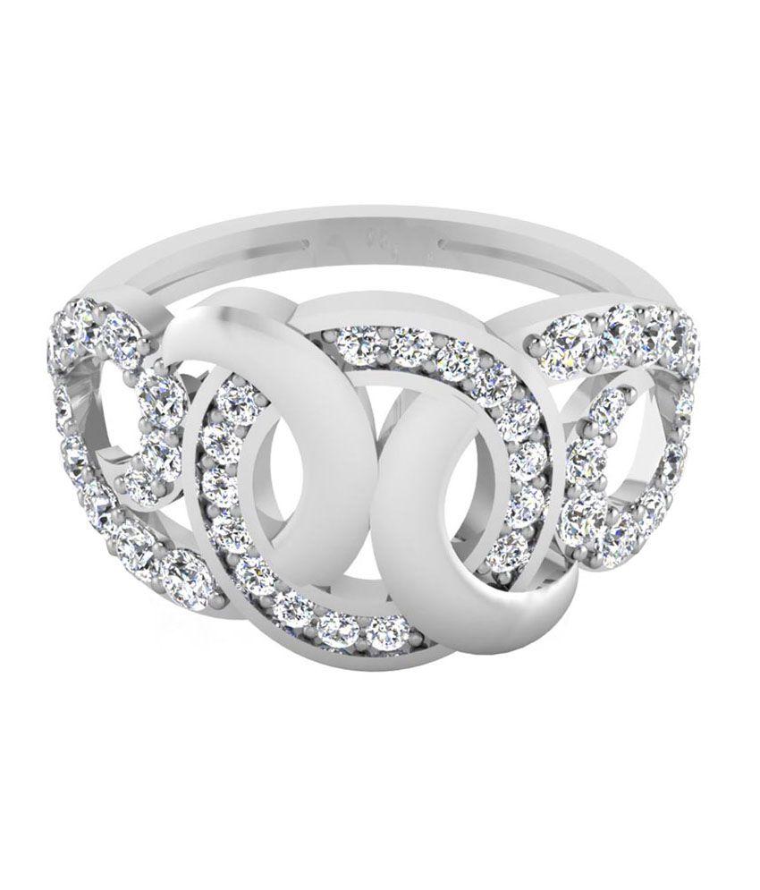 IskiUski 92.5 Sterling Silver Amity Swarovski Ring