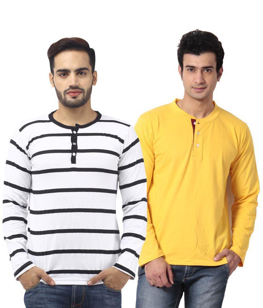 Leana Cotton Full Sleeve T Shirt Combo Of 2