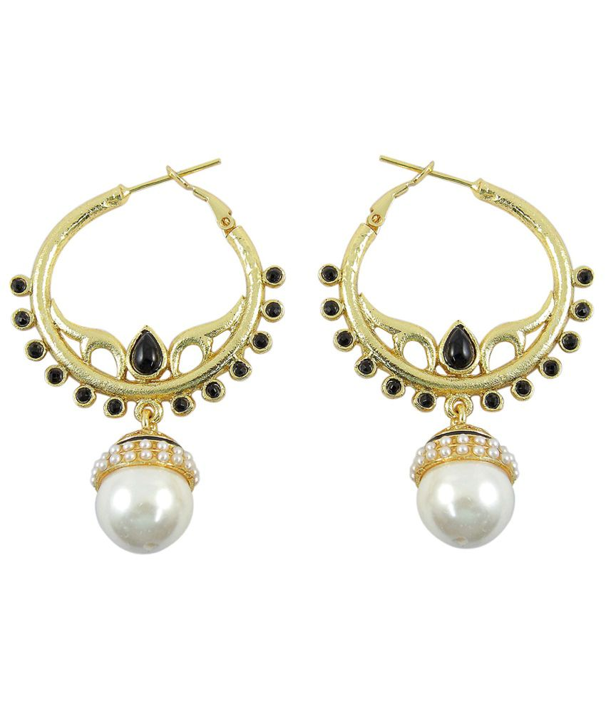 how much are earrings much more pearl wedding style black colour 9123