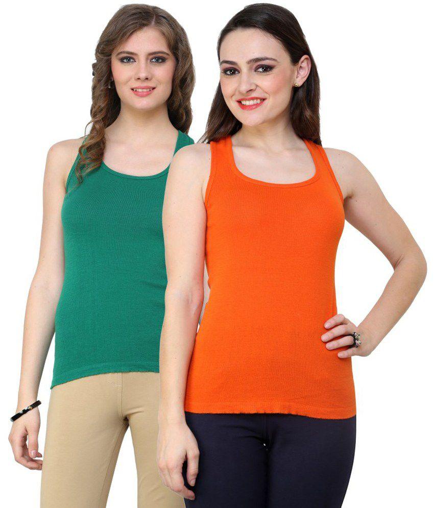 Renka Multi Color  Camisoles Pack of 2