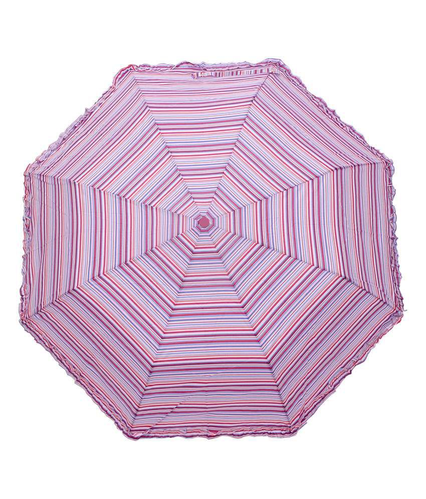 3b18a7d1d4205 Hou-dy Pongee 3 Fold Auto Open Frill Umbrella for Women: Buy Online at Low  Price in India - Snapdeal