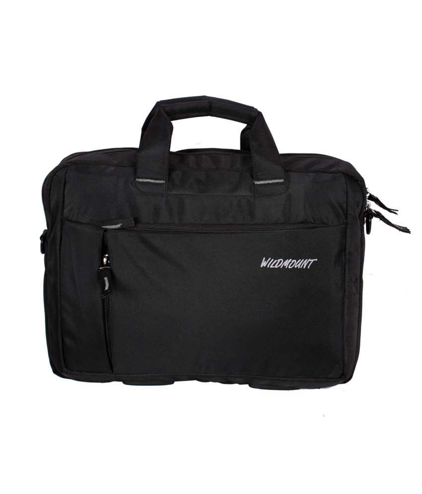 Wildmount Black Polyester Laptop Bag