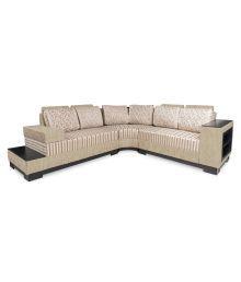 Platina L Shaped Sofa With Book Shelf