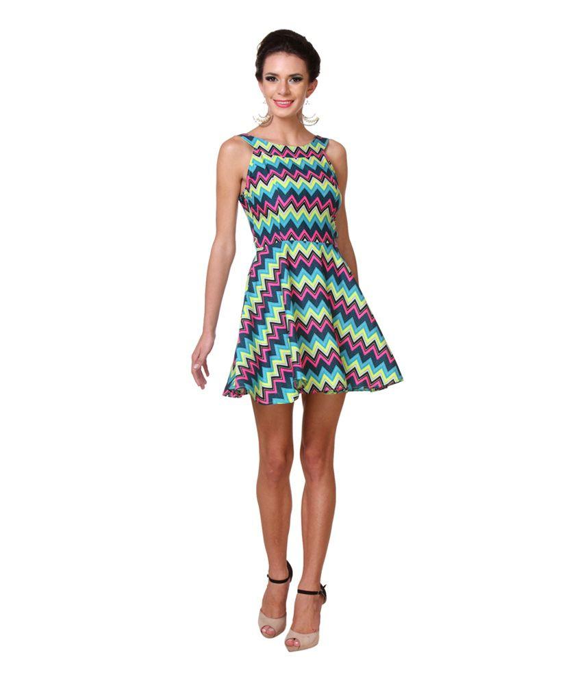 a07e471812e18 Zastraa Zig Zag Skater Dress