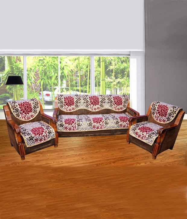 Creative homes floral design sofa cover set buy creative for Sofa set cover design