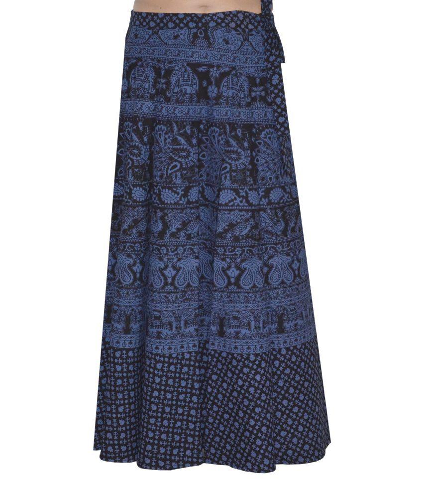buy pezzava printed s wrap around skirt at