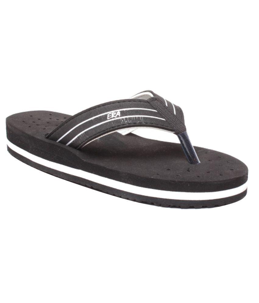 Feel It Stylish Black Slippers