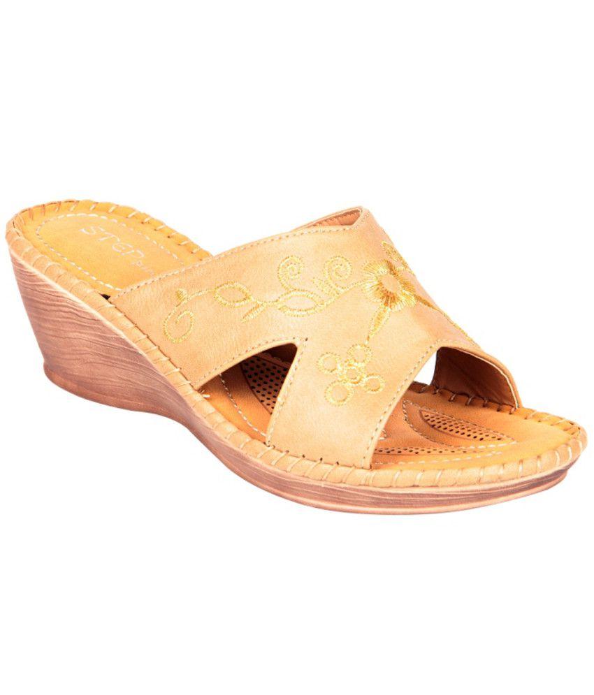 STEPpings Stunning Yellow Heeled Slip Ons