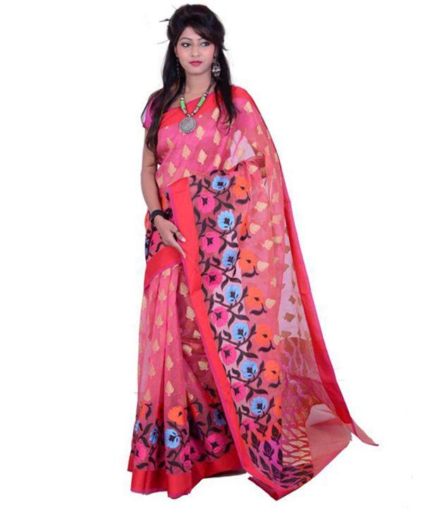 Mohd Faizan Ahmad Multi Color Art Silk Saree