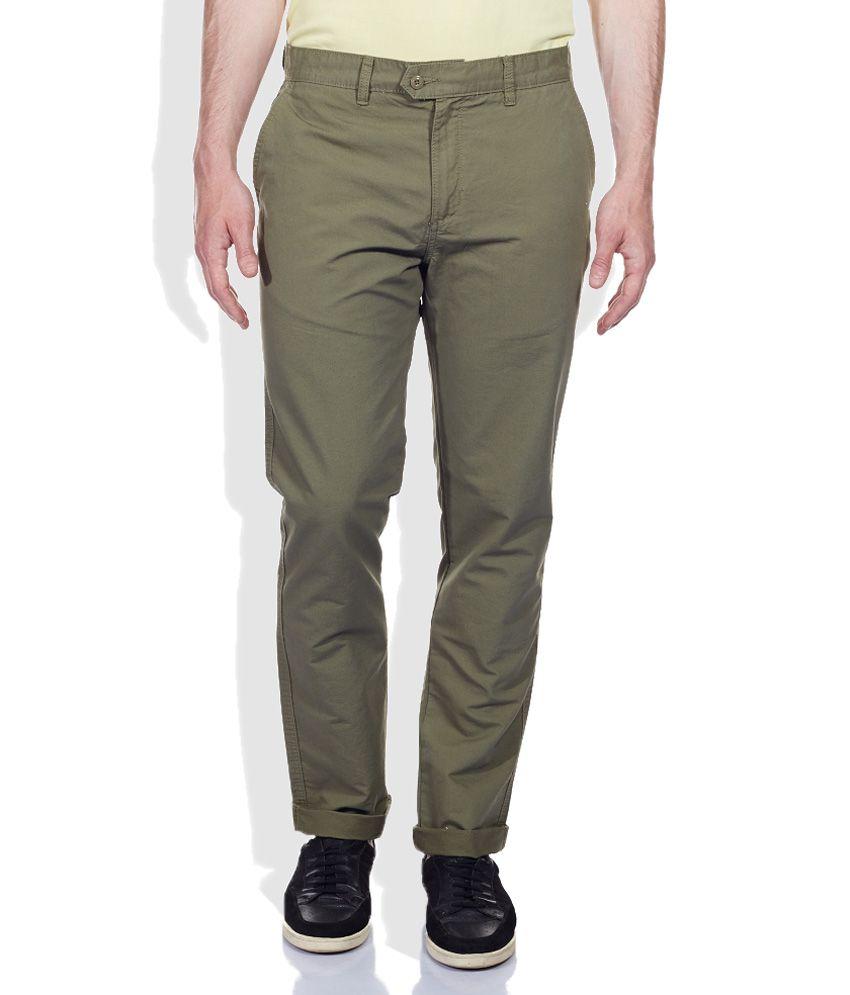 Ruggers Green Slim Trousers