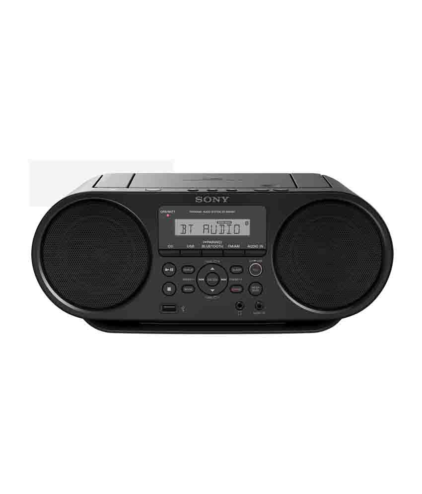 buy sony zs rs60bt mp3 cd radio player with usb black online at best price in india snapdeal. Black Bedroom Furniture Sets. Home Design Ideas
