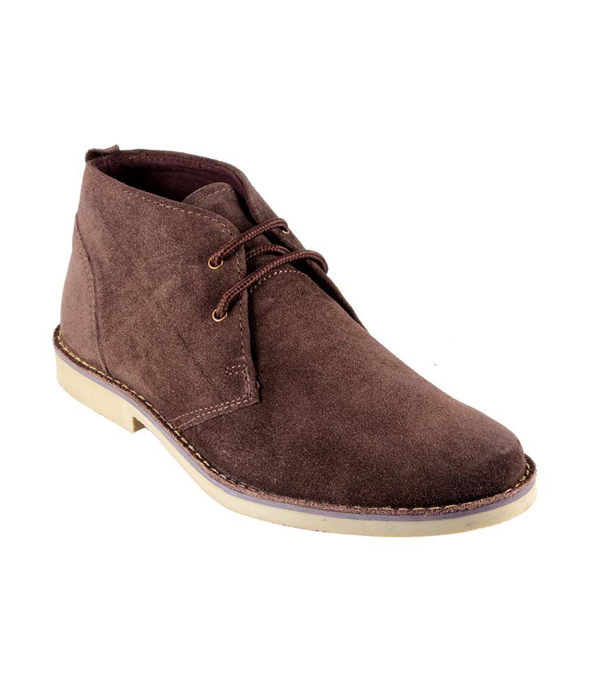Urban Country Brown Leather Lace Men Boots