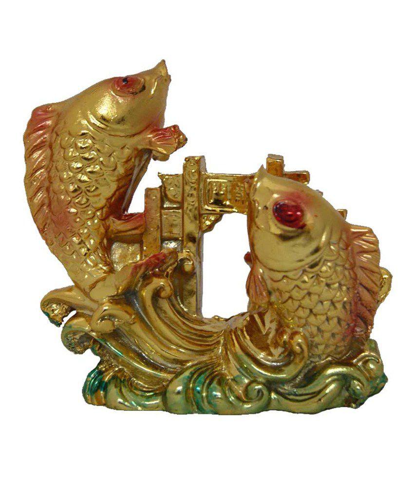 Aaradhi Divya Mantra Multicolor Carp Fish Crossing Dragon Gate Home Decor