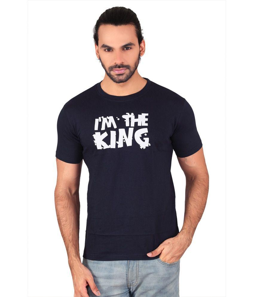Anger Beast Blue Slim Fit Round Neck Half Sleeves T-Shirt