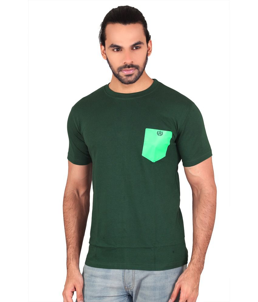 Anger Beast Green Slim Fit Round Neck Half Sleeves T-Shirt