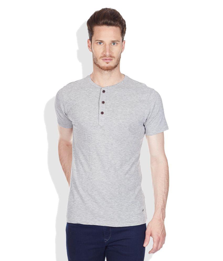 Cherokee Gray Round Neck T-Shirt