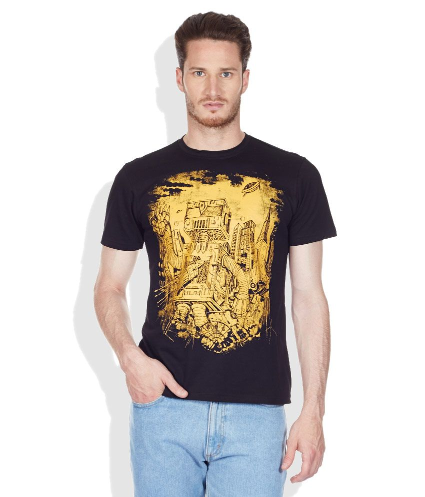 Colt Black Round Neck T-Shirt