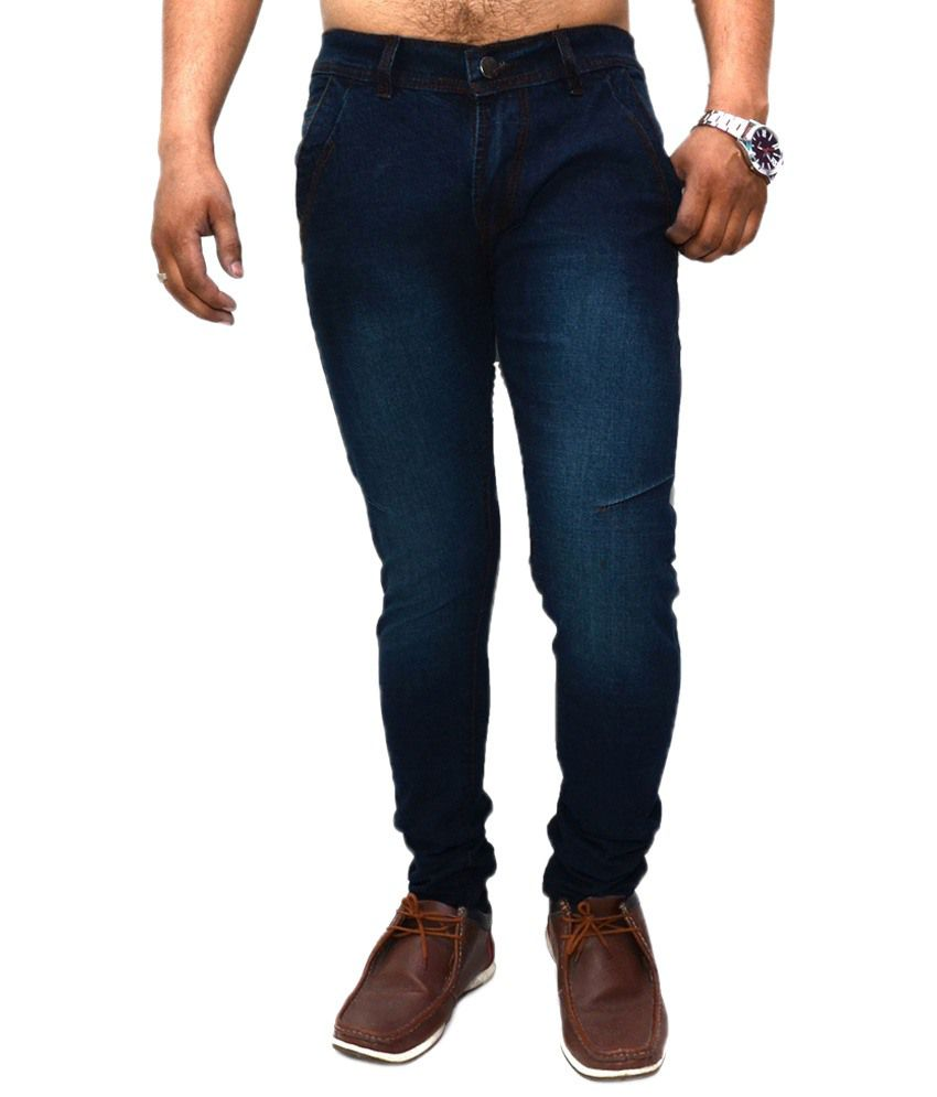 Nation Mania Cultured Blue Jeans For Men