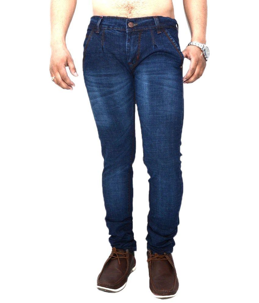 Nation Mania Descriptive Blue Jeans For Men