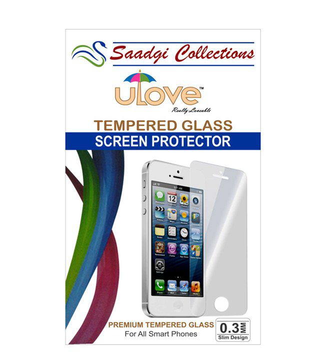 Saadgi Collection Scratch Less & Unbreakable Tempered Glass For Moto X2 (Pack 1)