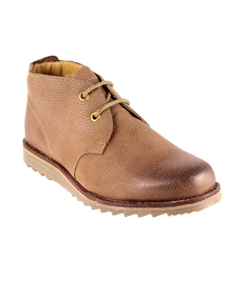Urban Country Tan Leather Lace Men Boots