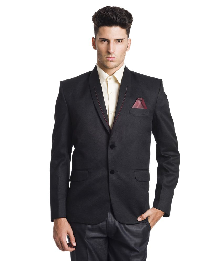 Wintage Festive 2-Button Black Blazer
