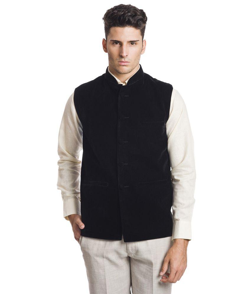 Wintage Royal Black Velvet Waistcoat