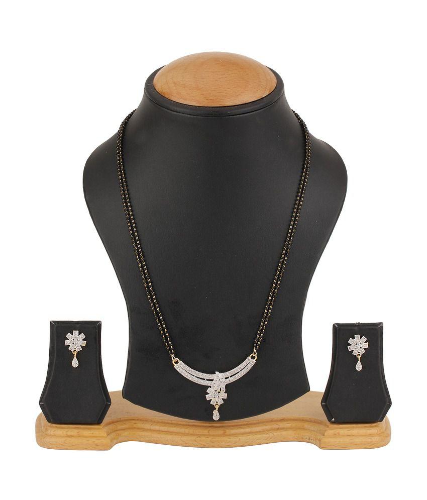Natraj Art American Diamond Mangalsutra Set