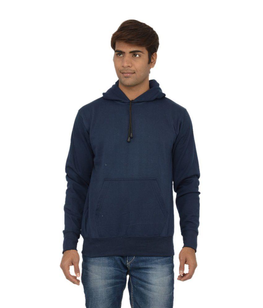 Scott International Blue Cotton Blend Sweatshirt