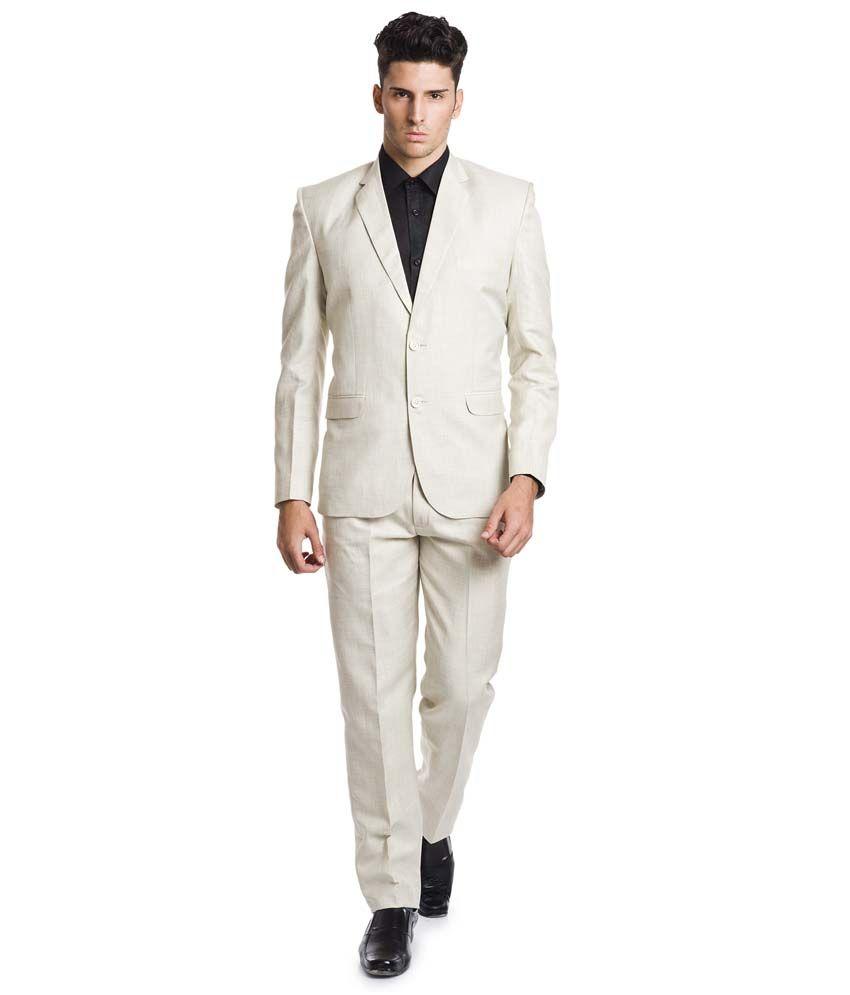 Wintage Beige Linen Formal Suit