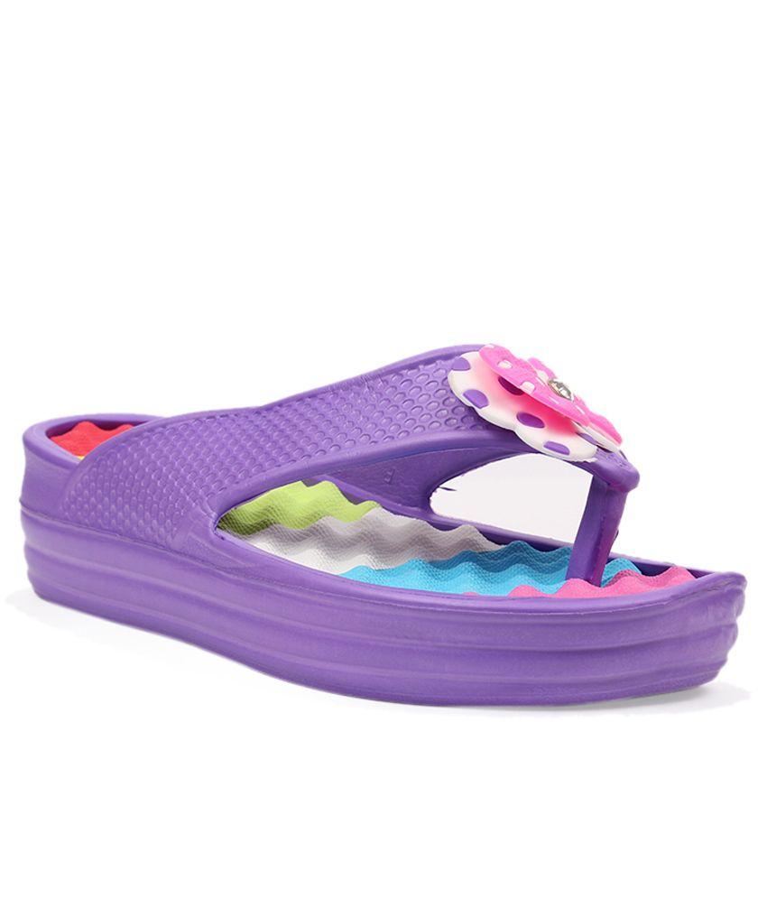 Aalishan Purple Low Heel Elegant Slippers