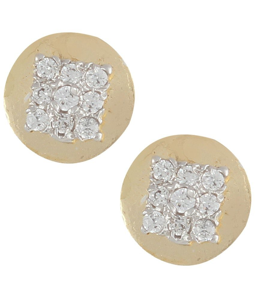 Archi Collection White Alloy Stud Earrings