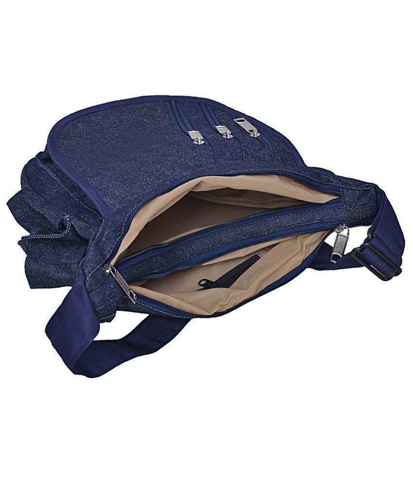 Arshia Men Casual Blue Denim Sling Bag - Buy Arshia Men Casual ...