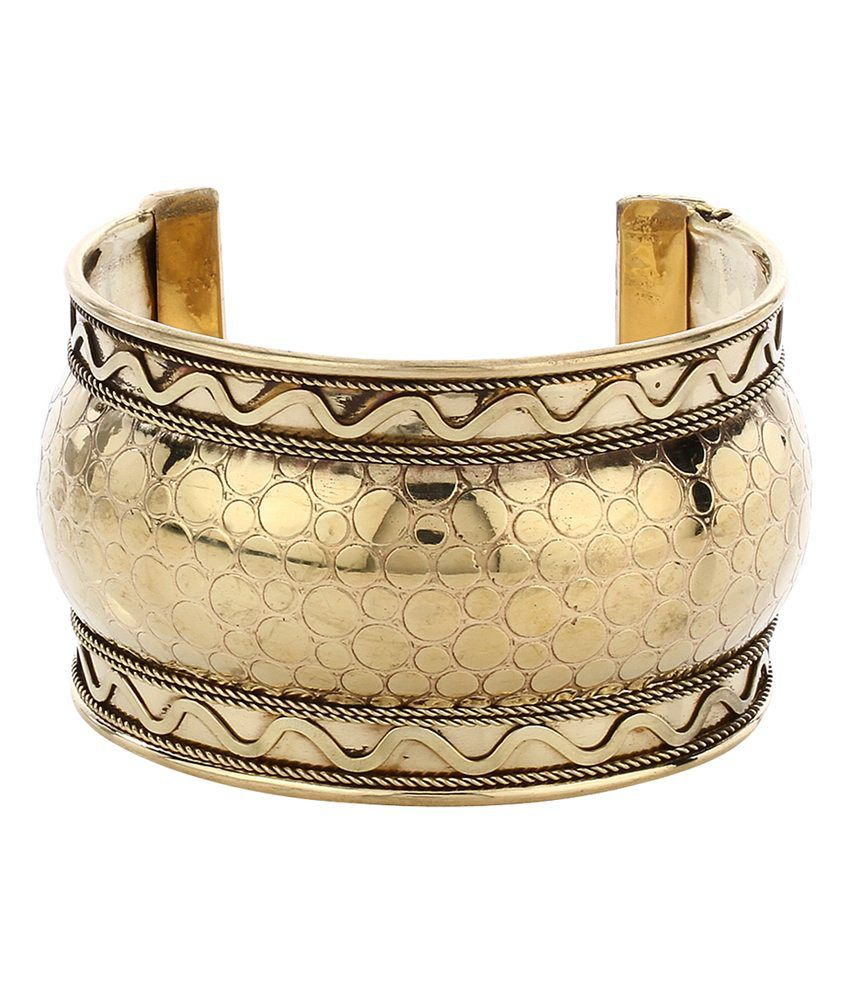 Imli Street Gold Brass Antique Bracelet