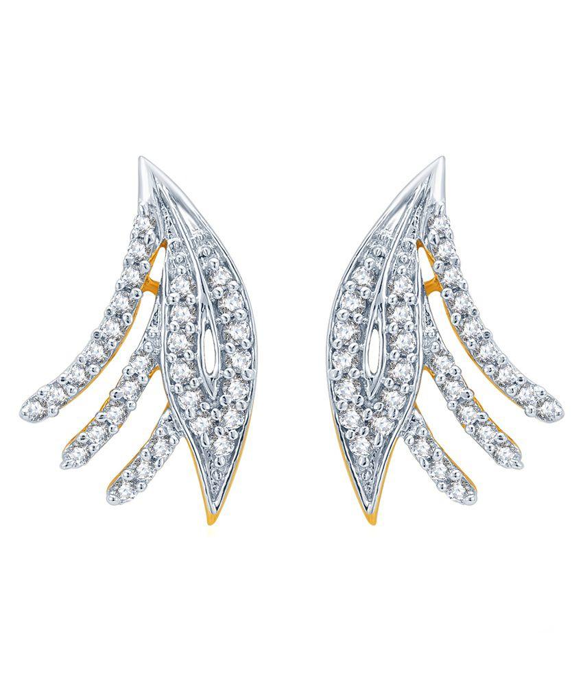 KaratCraft 18Kt Dangling Diamond Stud Earring