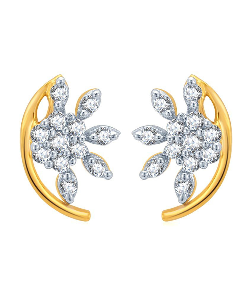 KaratCraft 18Kt Diamond Stud Earring
