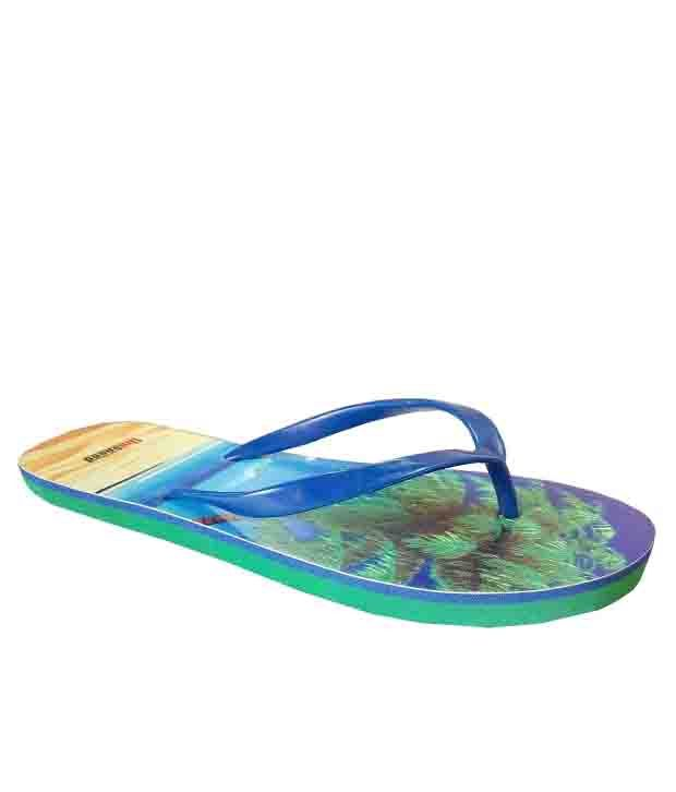 Unispeed Blue Beach Flip Flops