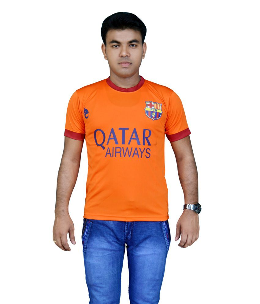 Bloomun Barcelona Foot Ball Club Supporter Jersey Orange