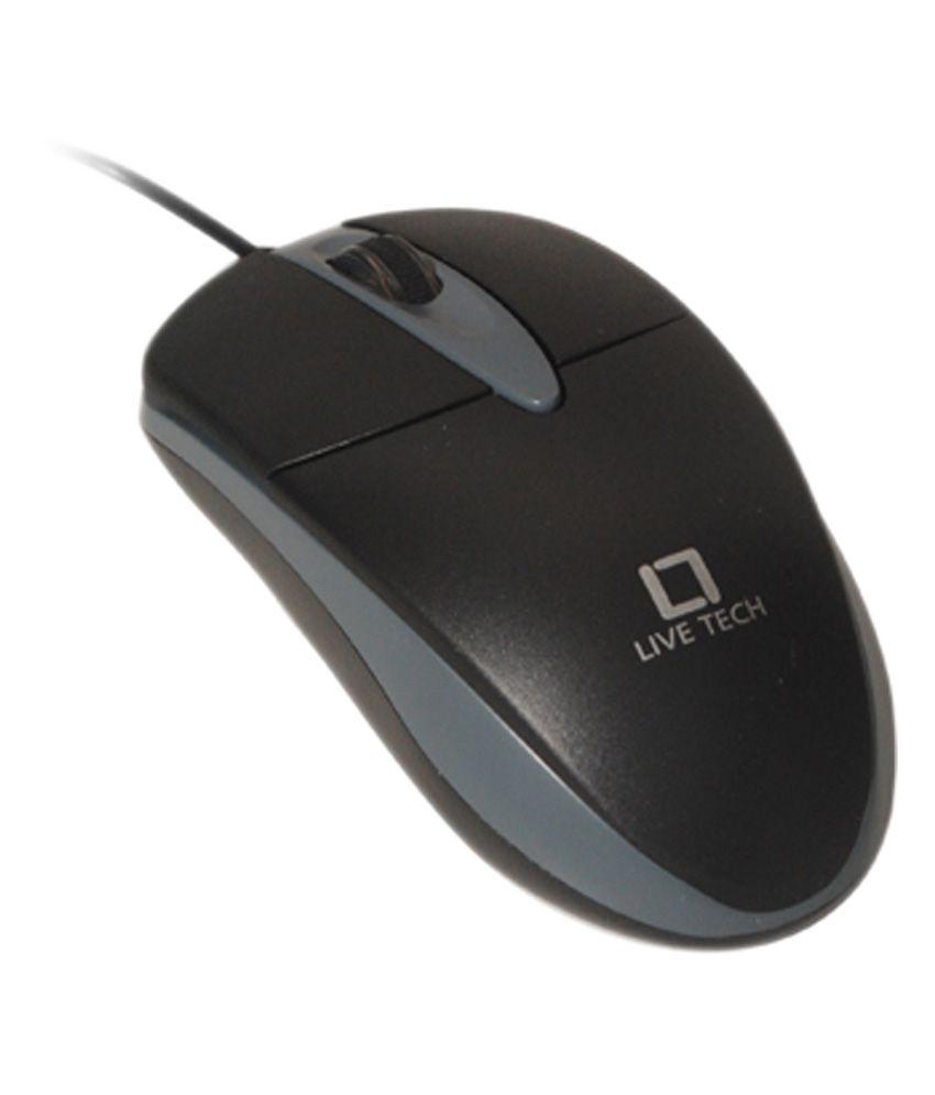 Live Tech MS12 USB Mouse Black
