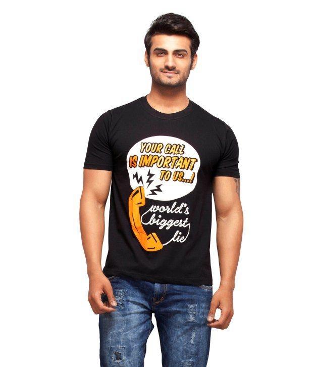 Nihaal Biggest Lie Black Round Neck Printed T-Shirt