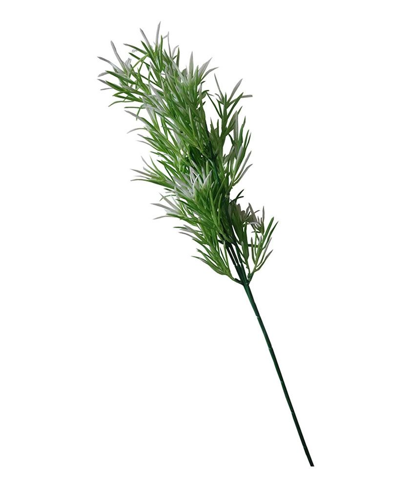Aamore decor green fabric artificial flower buy aamore for Artificial flowers for home decoration india