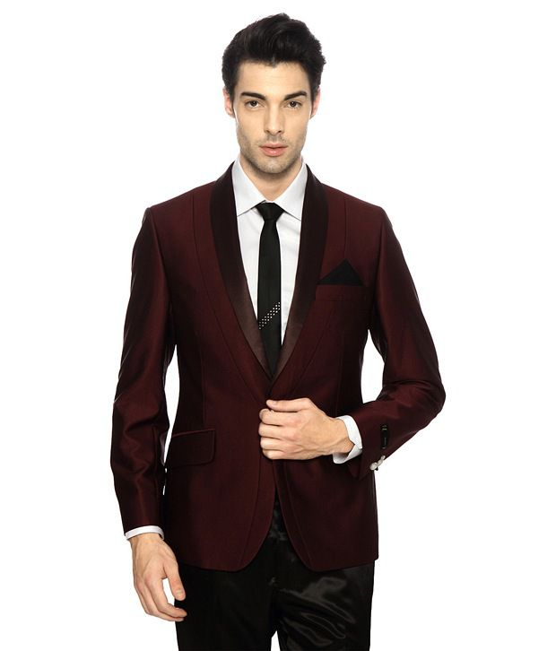c8a25bb519 Van Heusen V Dot Maroon Fitted Blazer - Buy Van Heusen V Dot Maroon Fitted Blazer  Online at Best Prices in India on Snapdeal