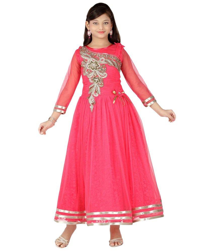 aarika pink party wear dress for girls buy aarika pink