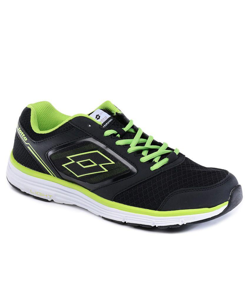 lotto everide black sport shoes