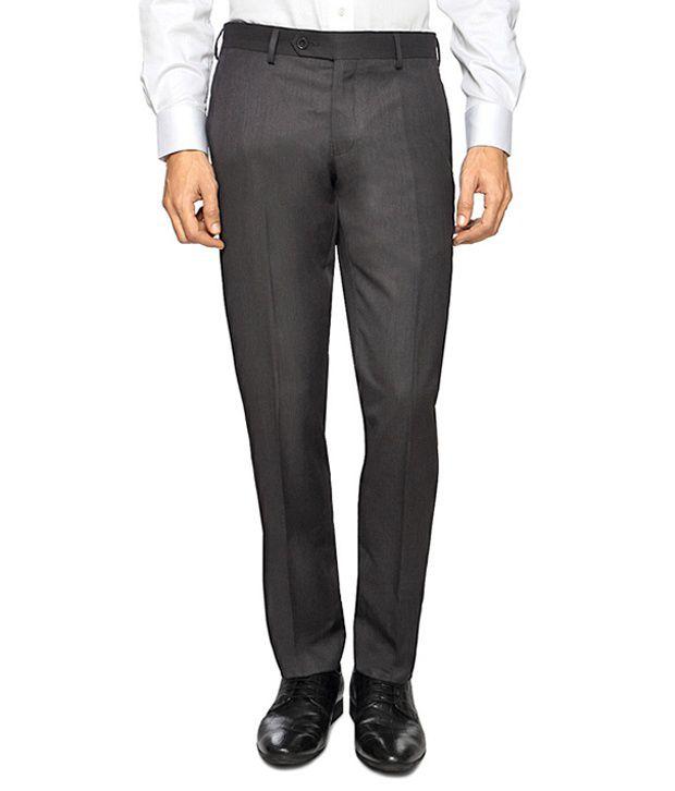Van Heusen Brown Formal Ultra Slim Fit Trousers