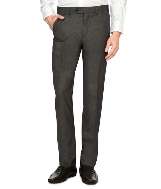 Van Heusen Grey Slim Fit Trousers