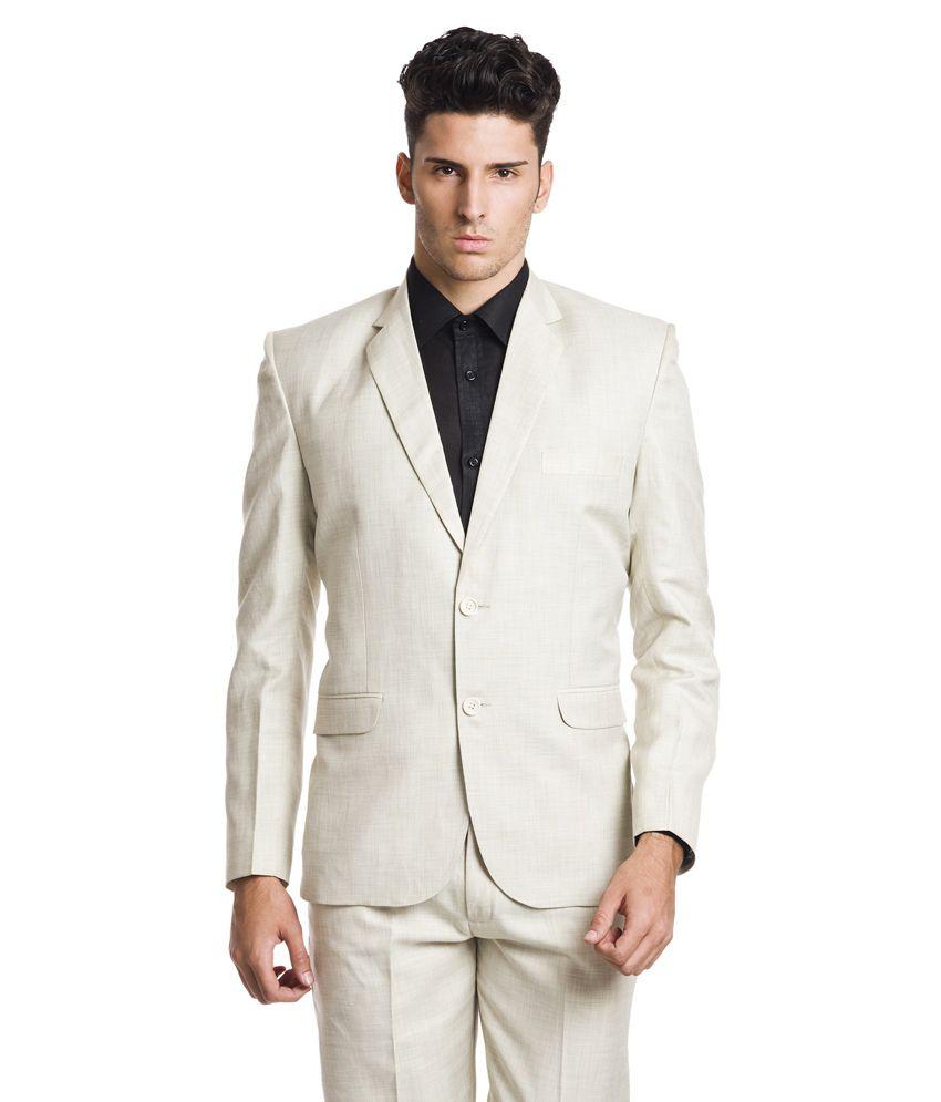 Wintage Linen Formal Beige Single Breasted Blazer