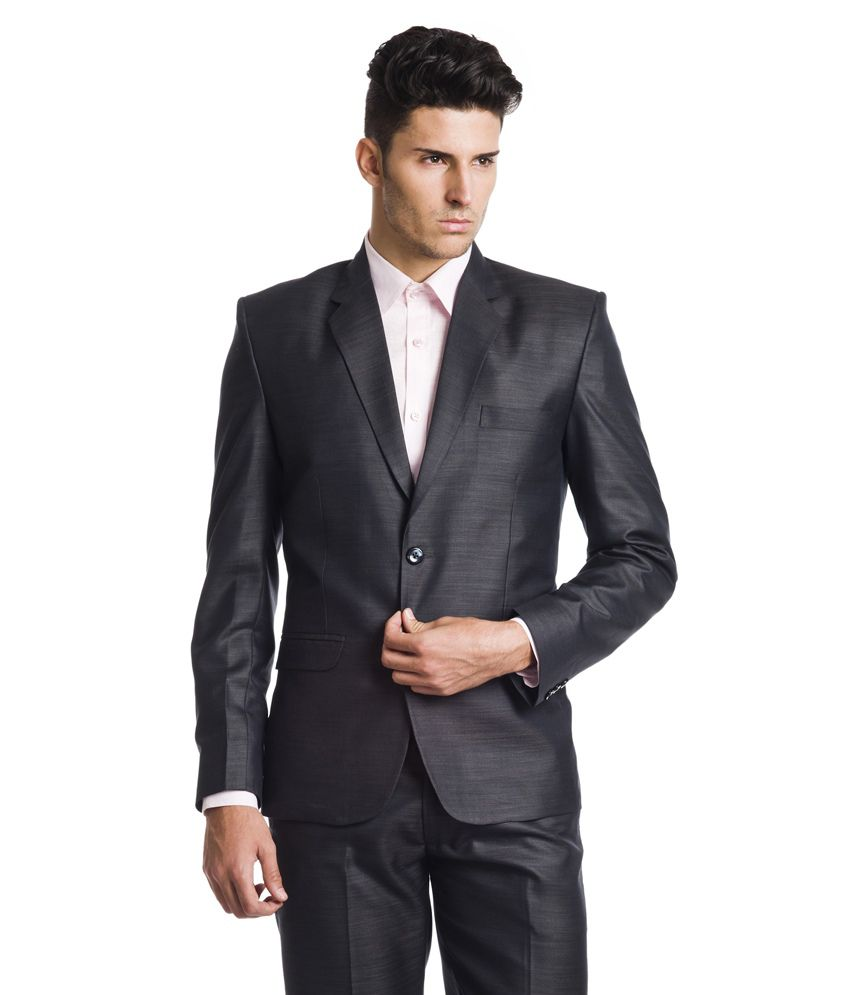 Wintage Woollen Black Formal Single Breasted Blazer